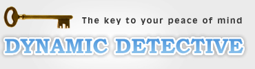 UK Private Investigator Dynamic Detective logo - The key to your peace of mind